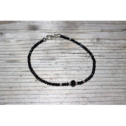 Armband Granat schwarz