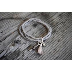 Armband Achat-taupe