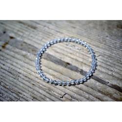 Armband Bergkristall mit Silberteilen