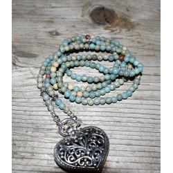 Halskette Opal Blau
